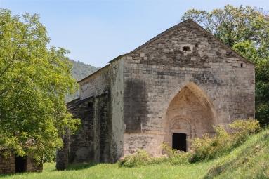Ancienne église de Molezon, Lozère, France
